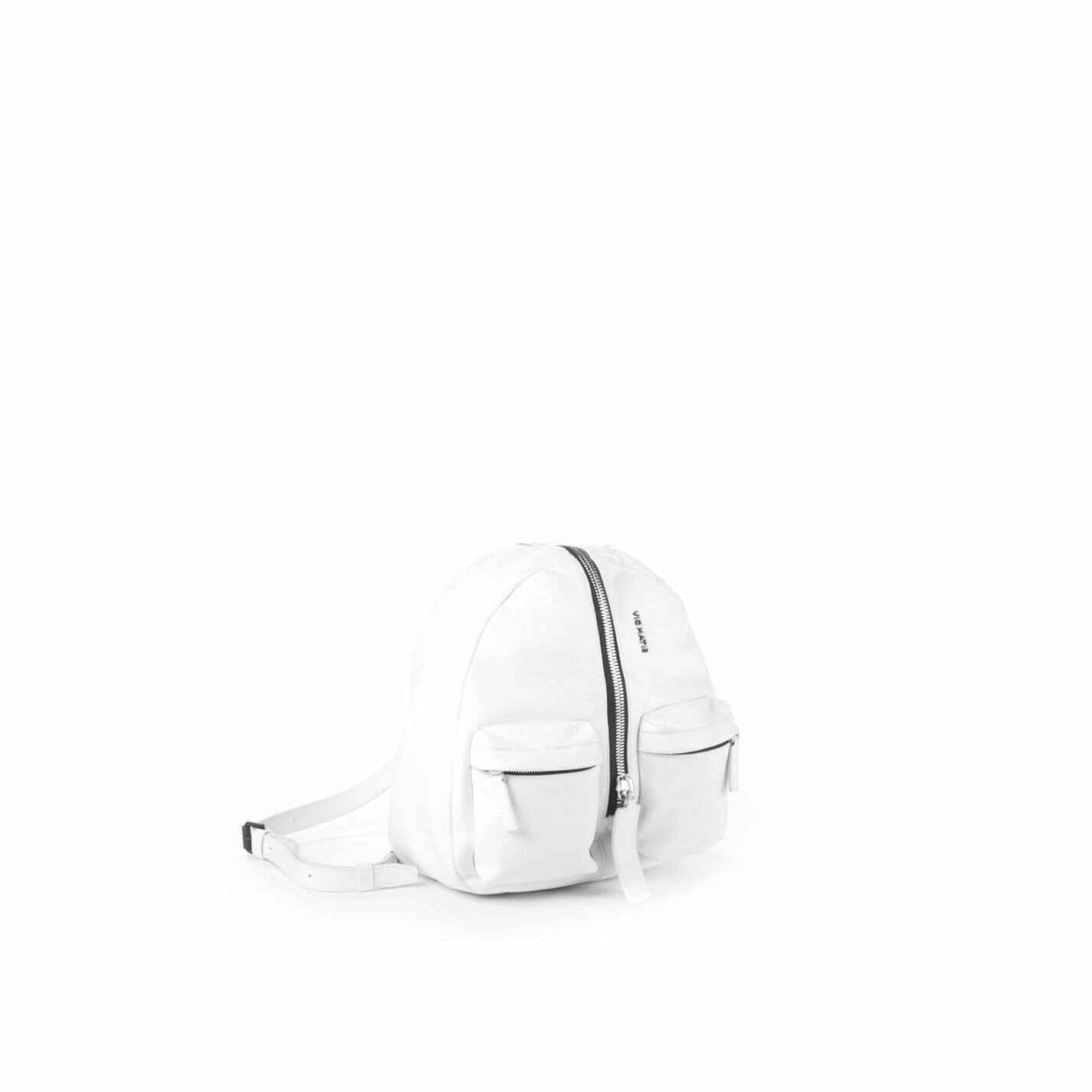 Aiko<br />White leather backpack