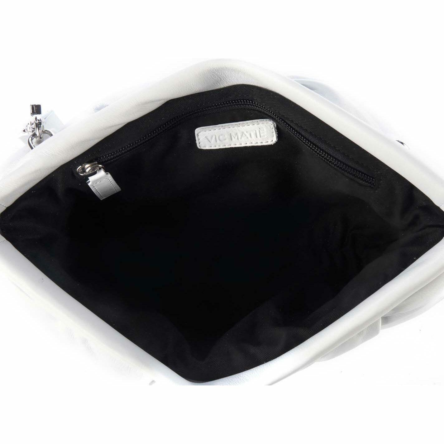 Kaori<br />white leather clutch