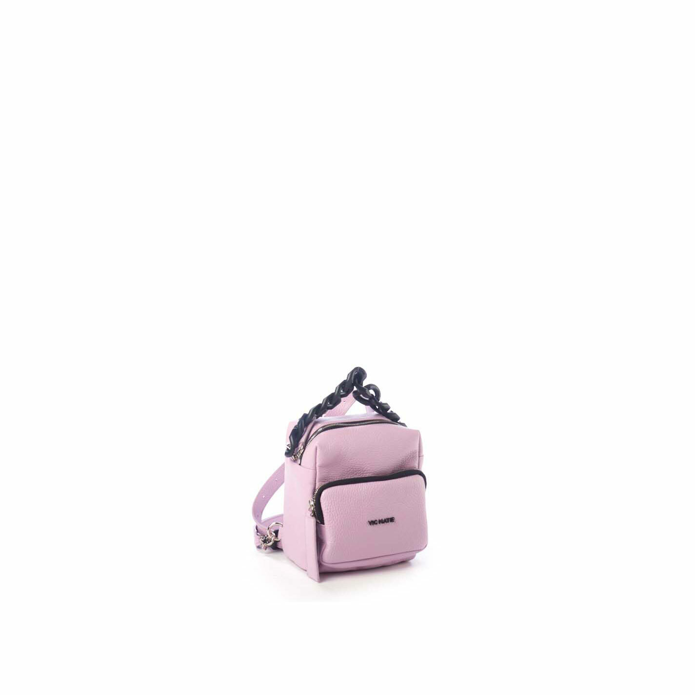 Angy<br />Mini lilac square-shaped backpack