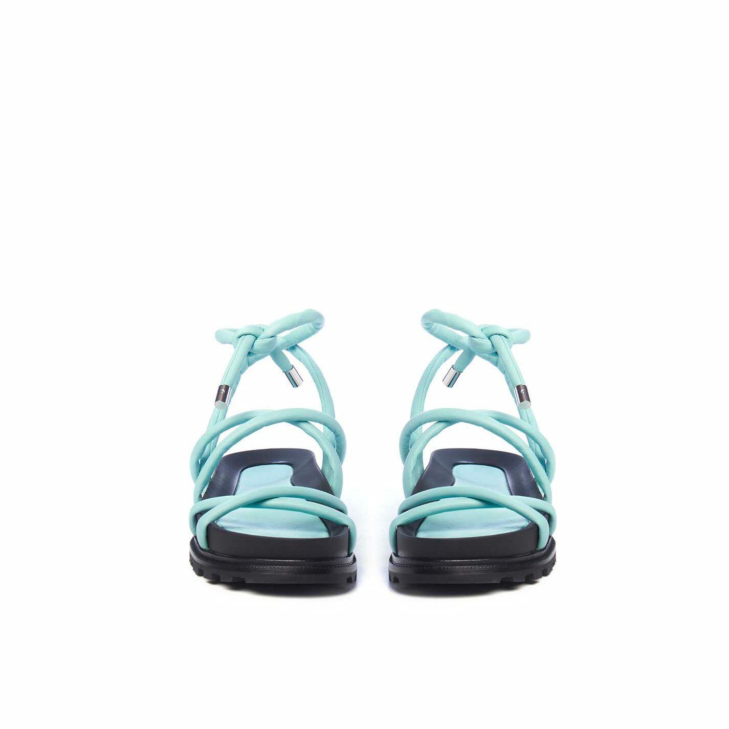 Sandalo fussbett con mignon celeste acqua